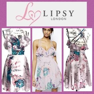 Lipsy London Chiffon Cross Back Dress